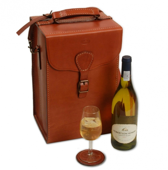 Leather Wine Carrier >> Double Bottle Wine Glass Carrier African Sporting Creations