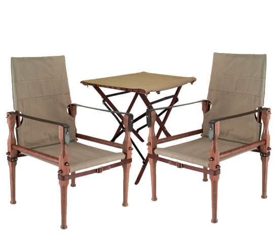 British Campaign Chairs U0026 Side Table Package