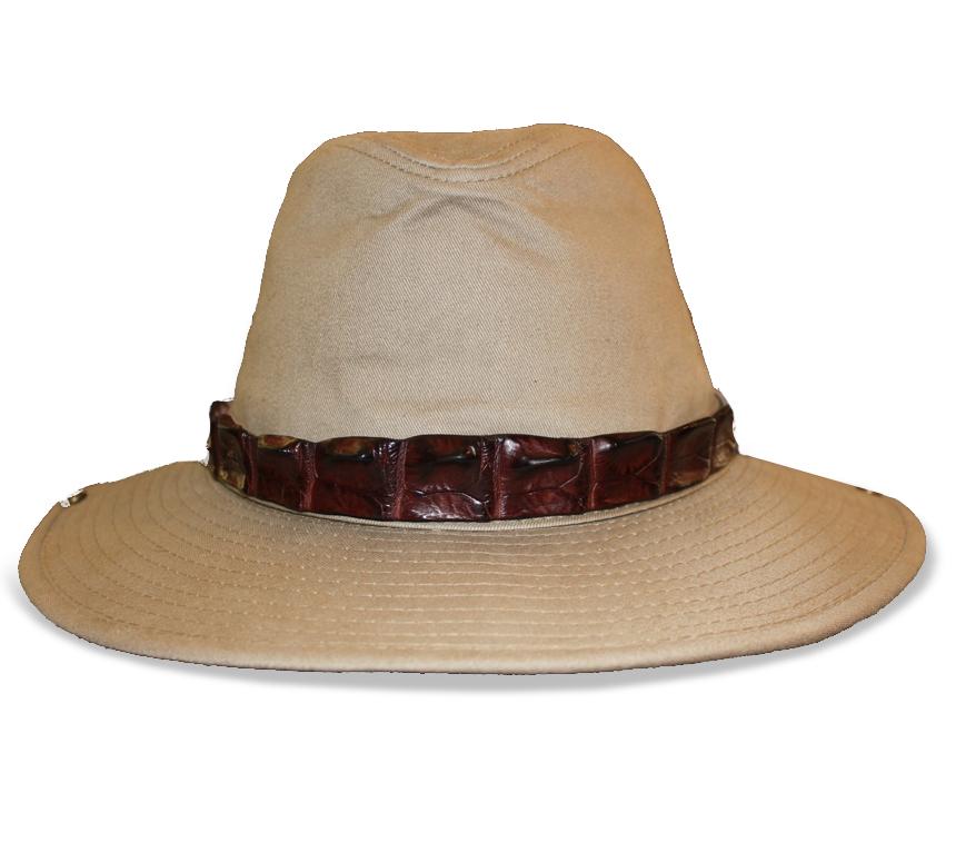Saltwater Crocodile Hat Band