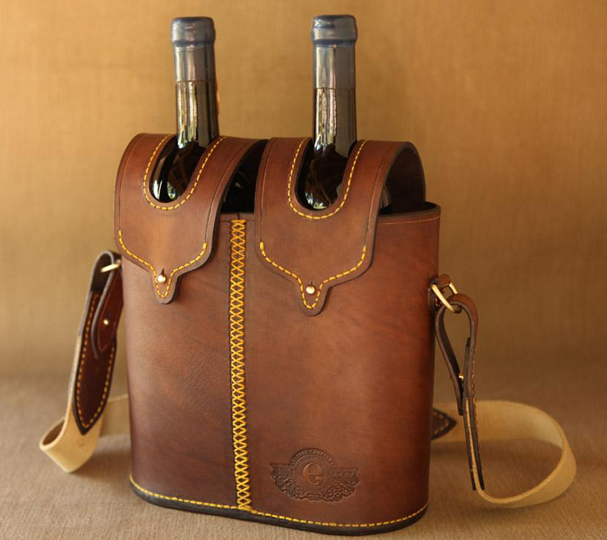 Wine Bottle Carrier  African Sporting Creations