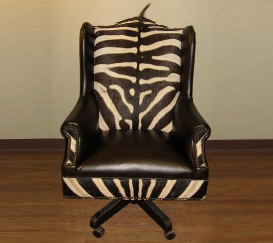 Zebra Skin Office Chair